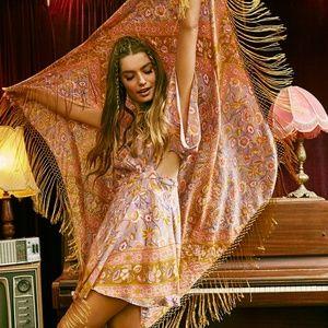 Spell & the Gypsy Lolita Lurex boho huge scarf